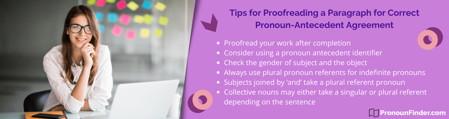 tips on how to fix my pronoun antecedent agreement